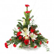 Festive Red and White Arrangement